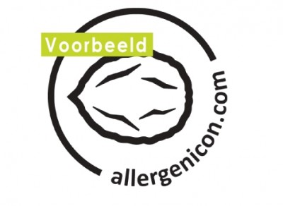 Allergeneniconen stickervel transparant noten
