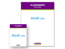 Instructiebord allergenenzone afmetingen