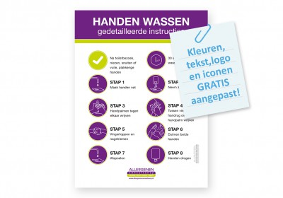 Instructiebord handhygiene